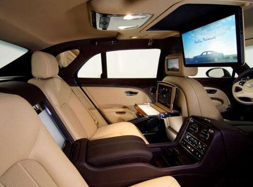 Bentley Mulsanne back seats