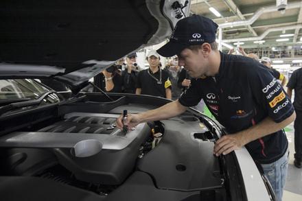 Sebastian Vettel sign FX