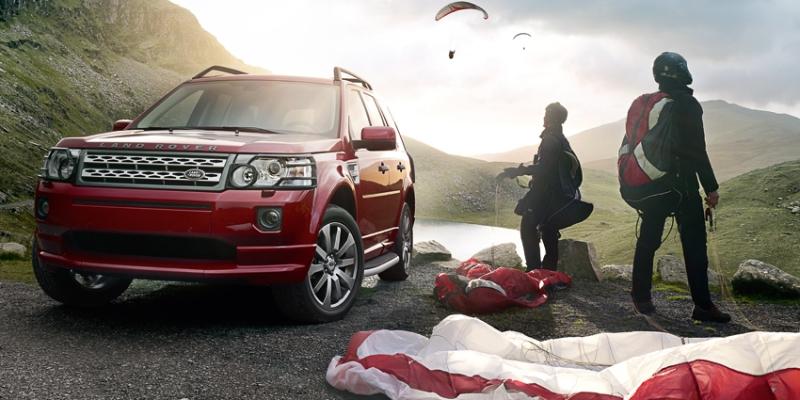 Land Rover Freelander 2 parachute