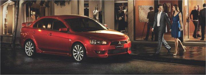 Mitsubishi Lancer pedistrians