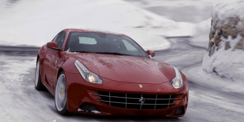 Ferrari FF snow